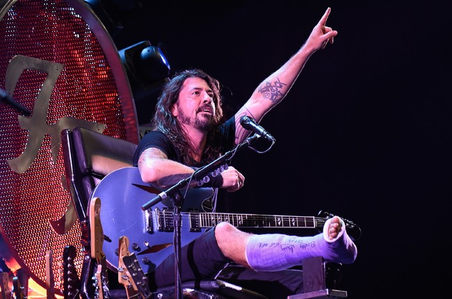 Dave Grohl of Foo Fighters performs onstage during the Foo Fighters 20th Anniversary Blowout at RFK Stadium