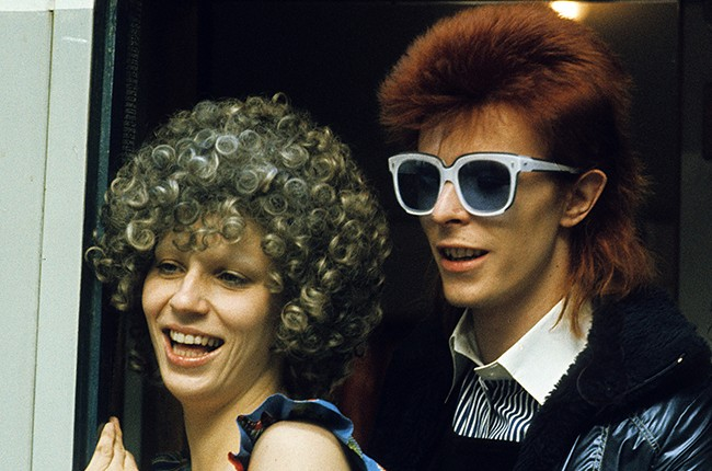 David Bowie and Angie Bowie