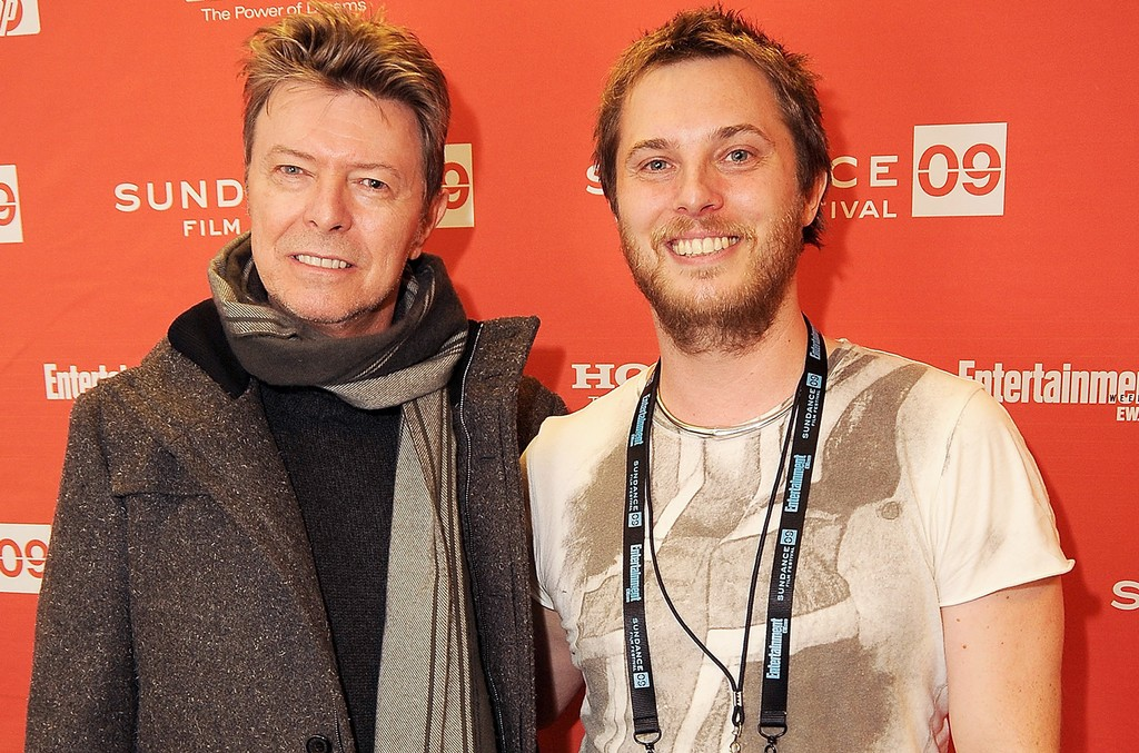 David Bowie and Duncan Jones attend the premiere of Moon