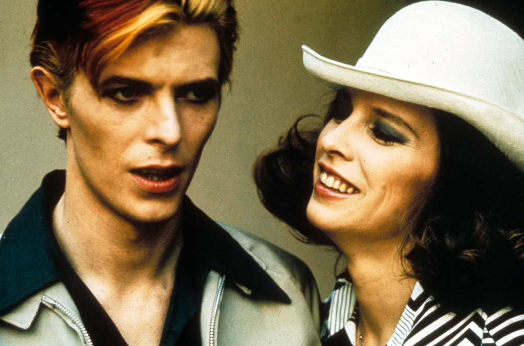 David Bowie and Candy Clark in 'The Man Who Fell To Earth'