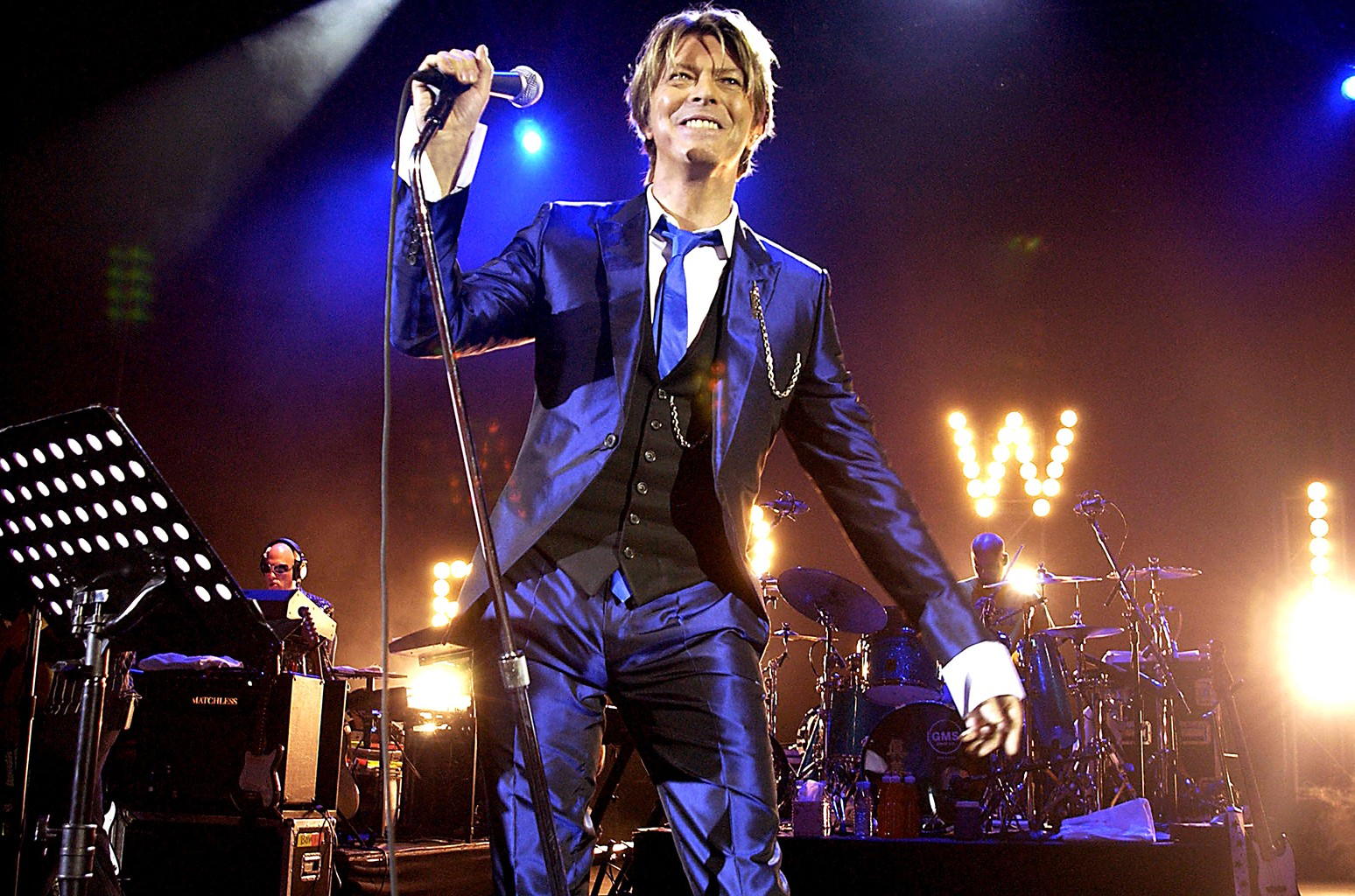 David Bowie performs in London.