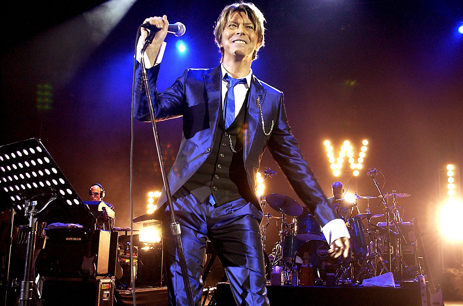 David Bowie performs in London