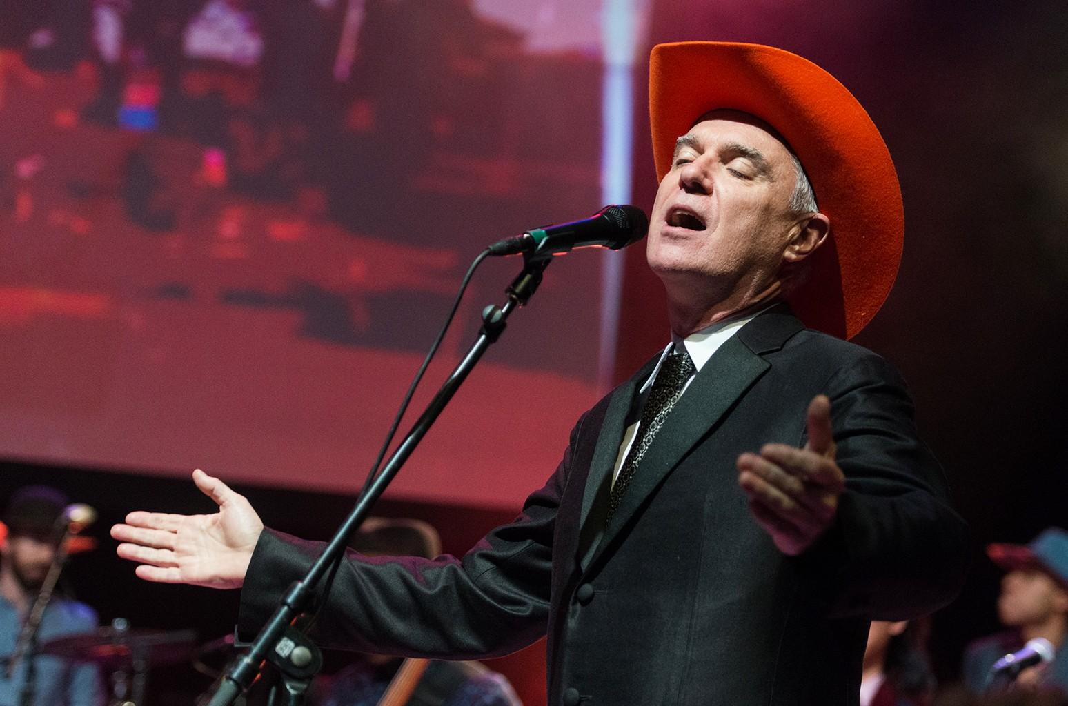 David Byrne performs in 2014
