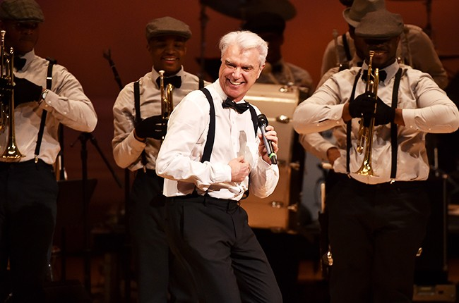 David Byrne performs onstage during The Music Of David Byrne & Talking Heads at Carnegie Hall 2015