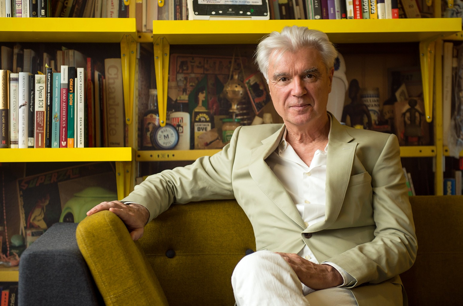 David Byrne photographed at Southbank Centre on Aug. 17, 2015 in London.