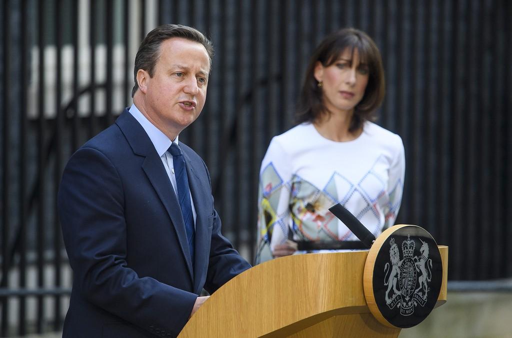 David Cameron delivers a resignation speech