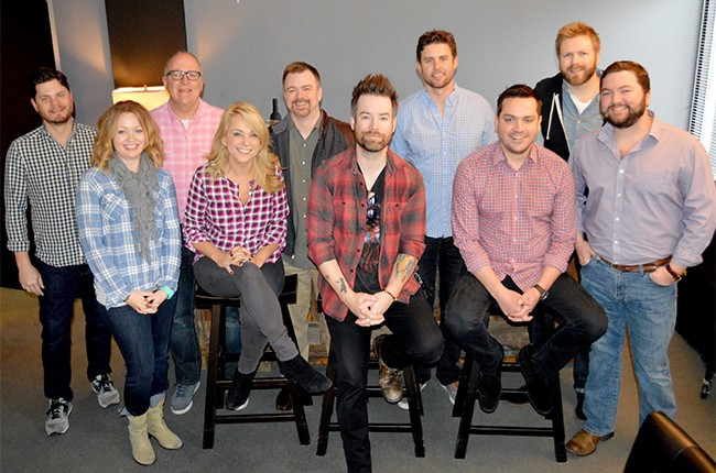 David Cook at the Warner/Chappell offices