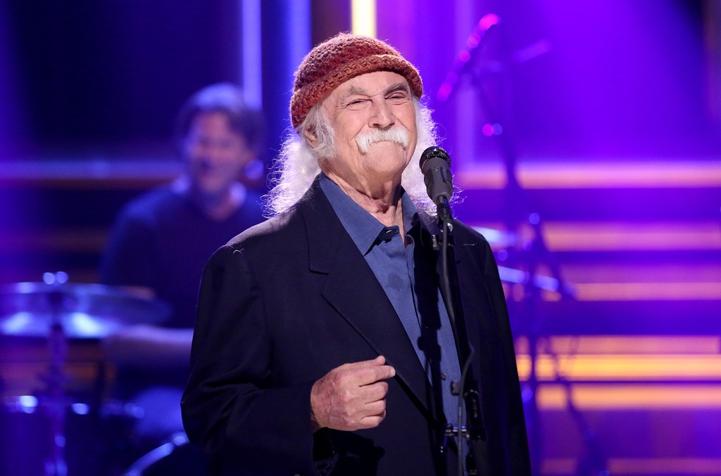 David Crosby performs on The Tonight Show Starring Jimmy Fallon on May 17, 2017.