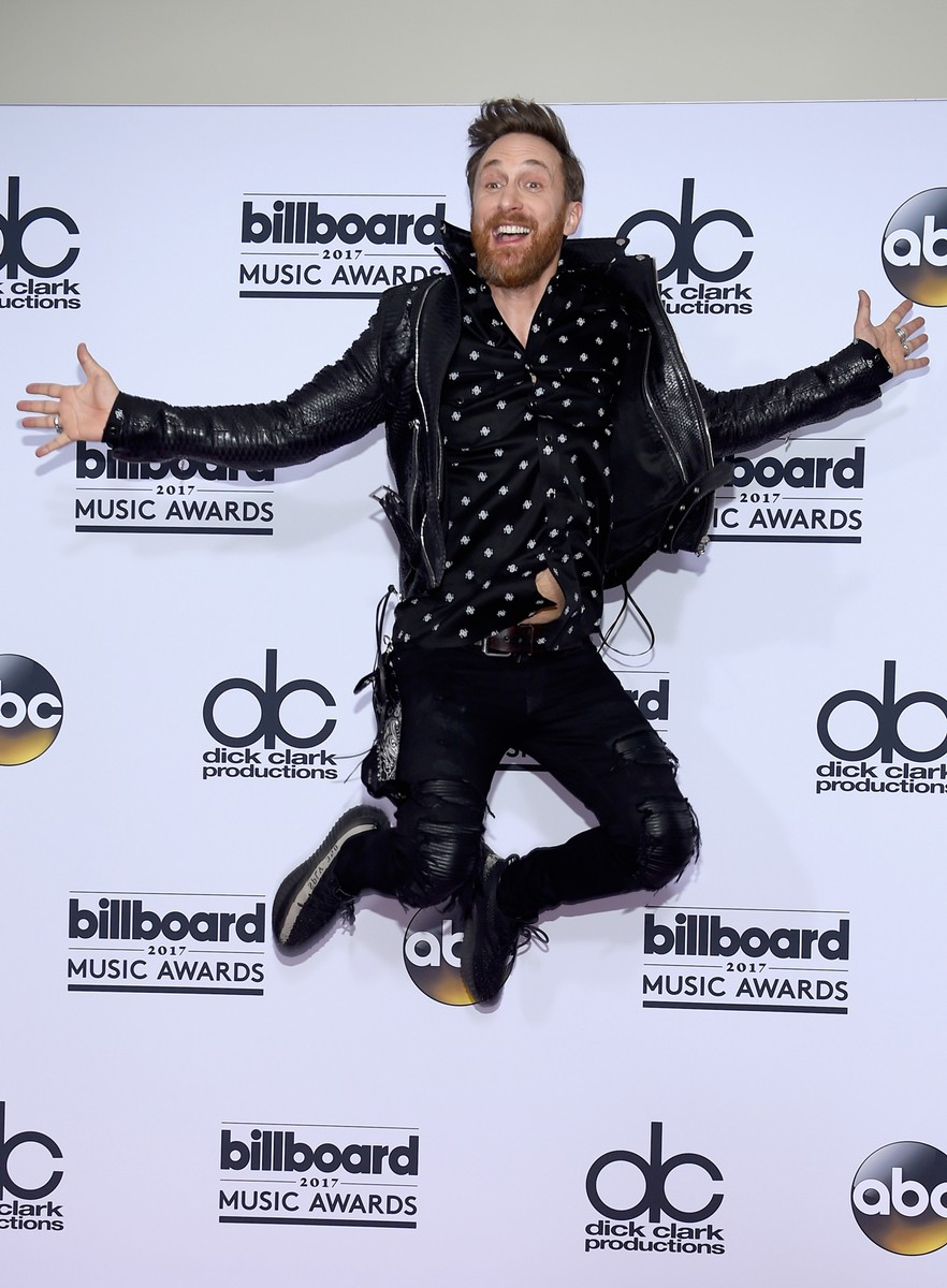 DJ David Guetta poses in the press room during the 2017 Billboard Music Awards at T-Mobile Arena on May 21, 2017 in Las Vegas.