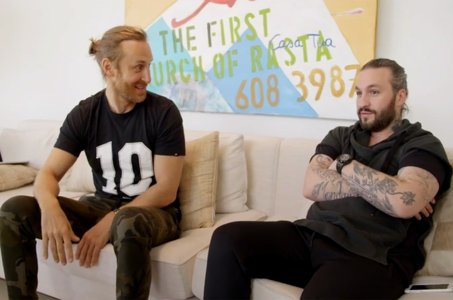 David Guetta and Steve Angello in a clip from the documentary What We Started