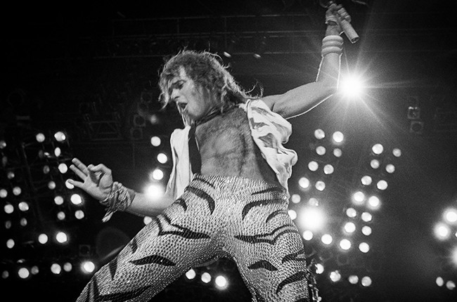 David Lee Roth of Van Halen in 1984