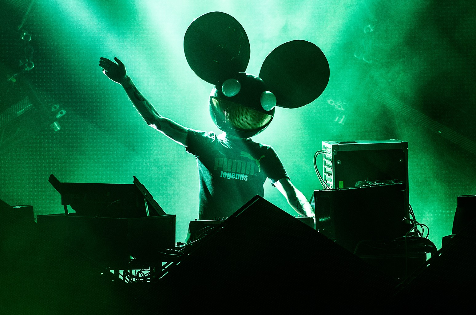 Deadmau5 performs in Paris