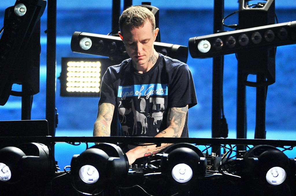 Deadmau5 performs at Microsoft Theater