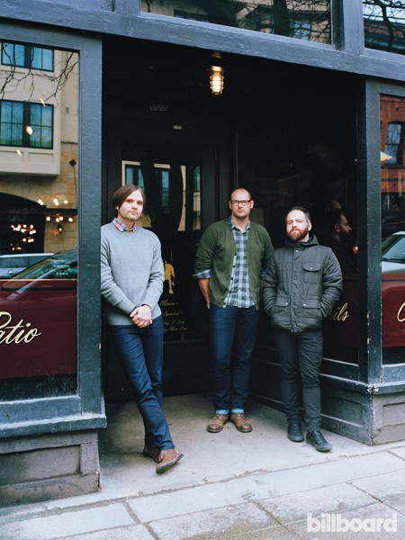 Death Cab for Cutie photographed on Feb 27, 2015 at King's Hardware in Seattle, Wa.