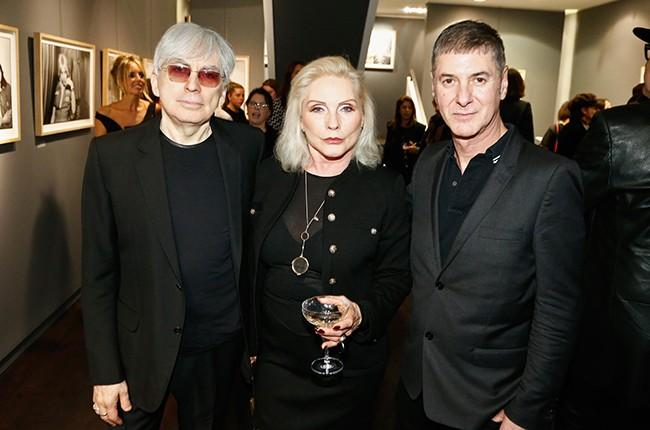 Chris Stein, Debbie Harry and Etienne Daho attend the Chris Stein 'Negative' Exhibition