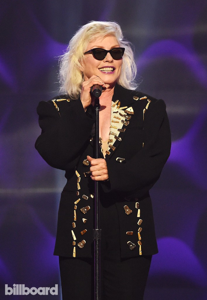 Debbie Harry presents on stage at the Billboard Women in Music 2016 event on Dec. 9, 2016 in New York City.