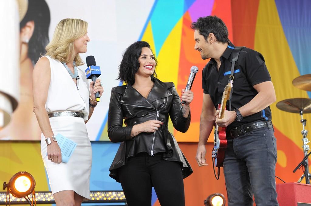 Demi Lovato and Brad Paisley on Good Morning America