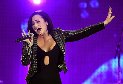 Demi Lovato performs onstage during CBS RADIOs third annual We Can Survive