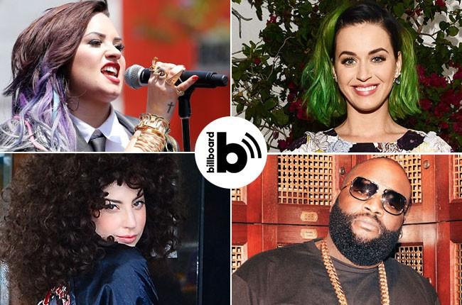 Demi Lovato, Katy Perry, Rick Ross, Lady Gaga