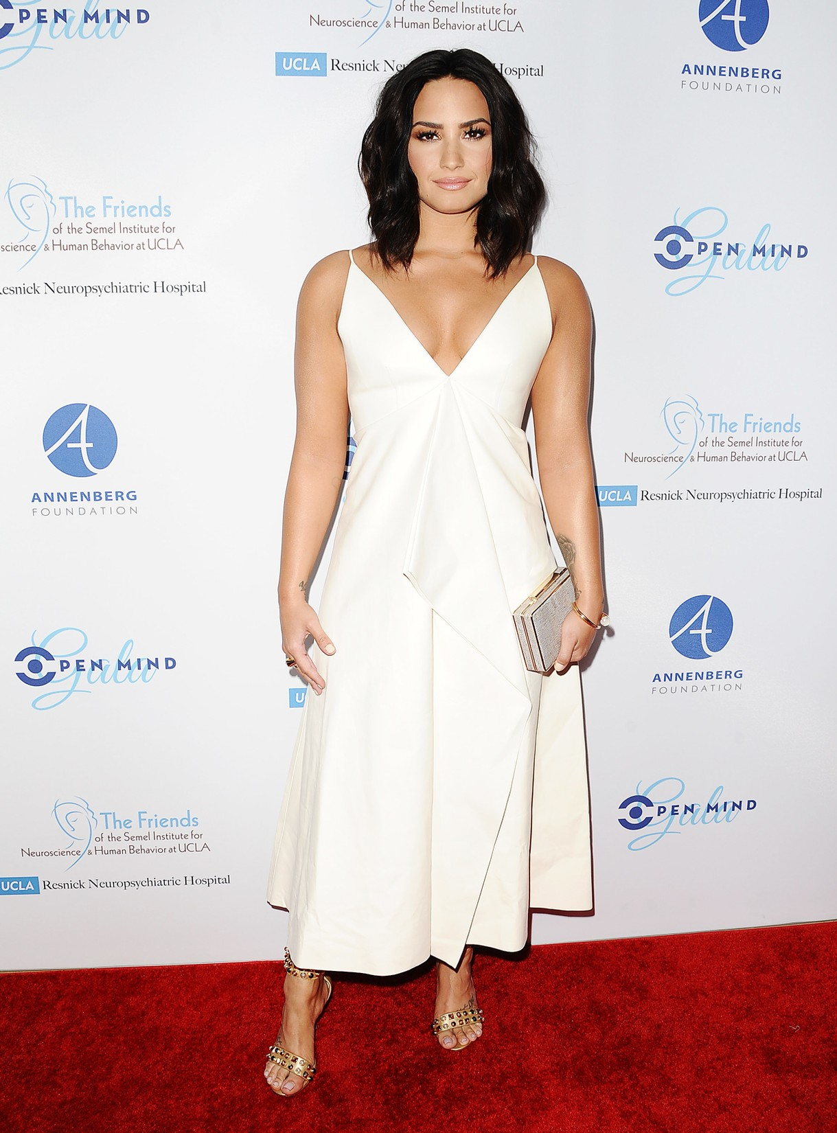 "Demi Lovato attends UCLA's Semel Institute's biannual ""Open Mind Gala"" at The Beverly Hilton Hotel on March 22, 2017 in Beverly Hills, Calif."