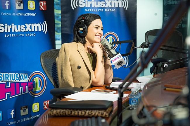 Demi Lovato at SirusXM Studios
