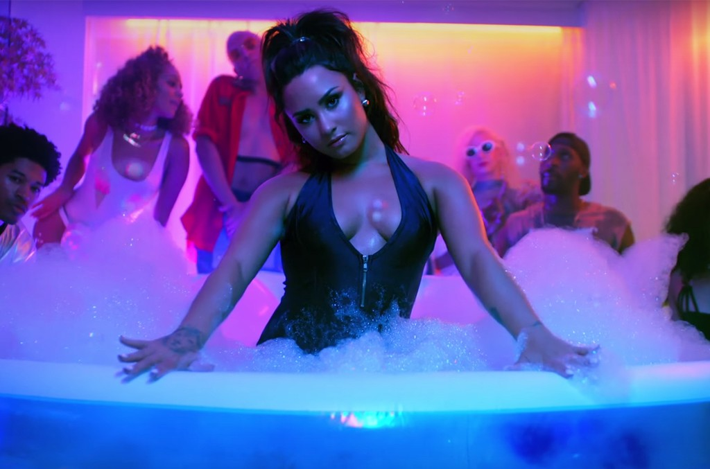 """Demi Lovato in the video for """"Sorry Not Sorry"""""""