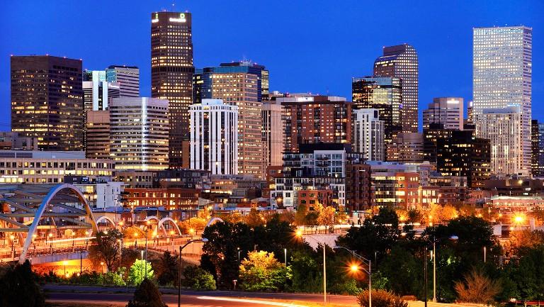 <p>Denver, Colorado skyline.</p>