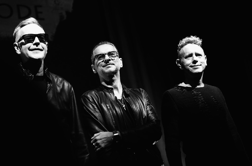 Depeche Mode attend a photocall to launch the Global Spirit Tour