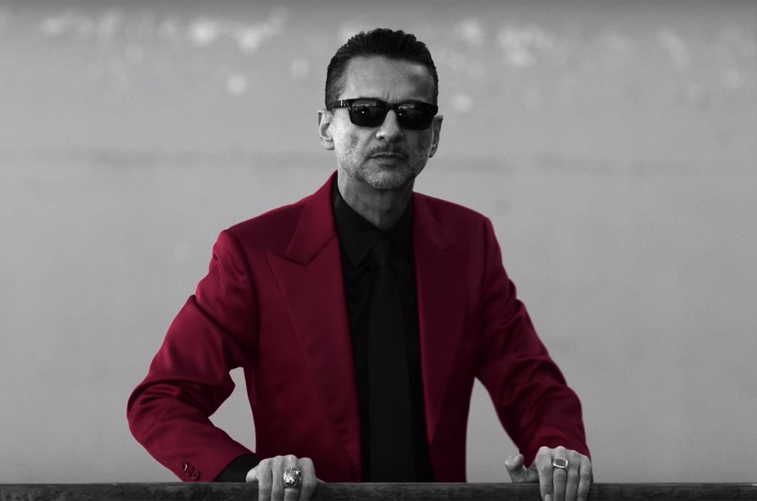 "A scene from Depeche Mode's video for ""Where's the Revolution."""