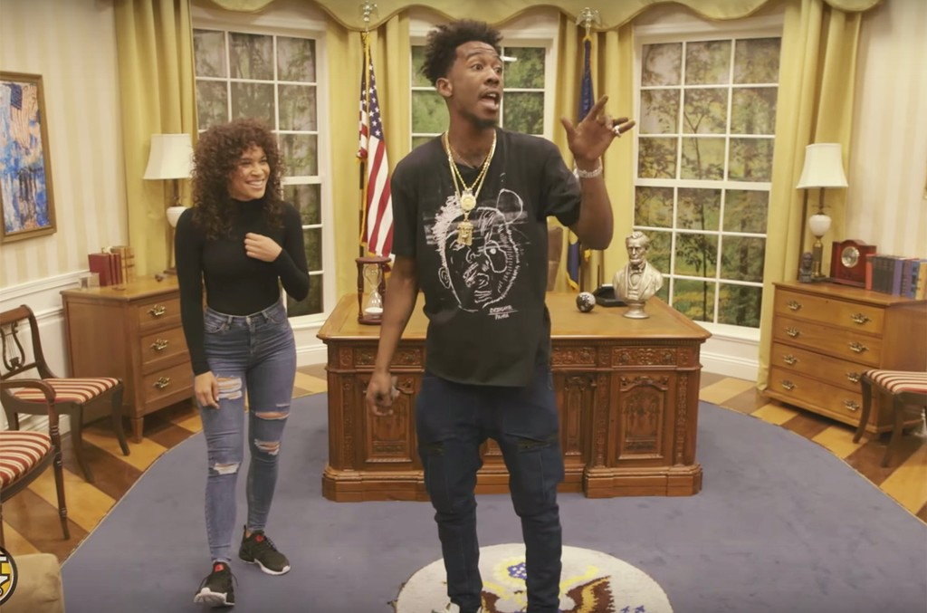 Megan Ryte and Desiigner on the first episode of Hot 97's of Breaking Records.