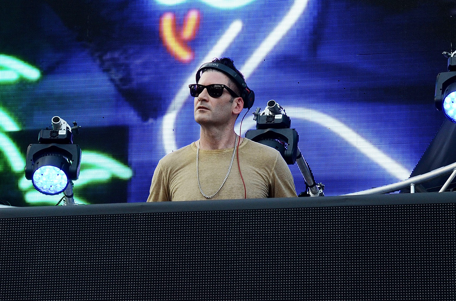 Destructo performs at Randall's Island on Sept. 4, 2015 in New York City.