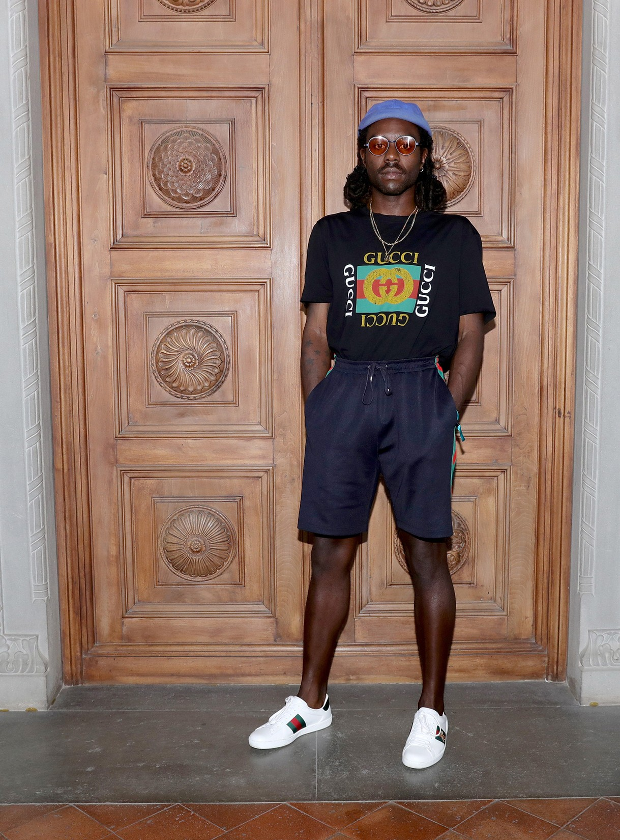 Dev Hynes attends the Gucci Cruise 2018 After show party at Serre Torrigiani on May 29, 2017 in Florence, Italy.