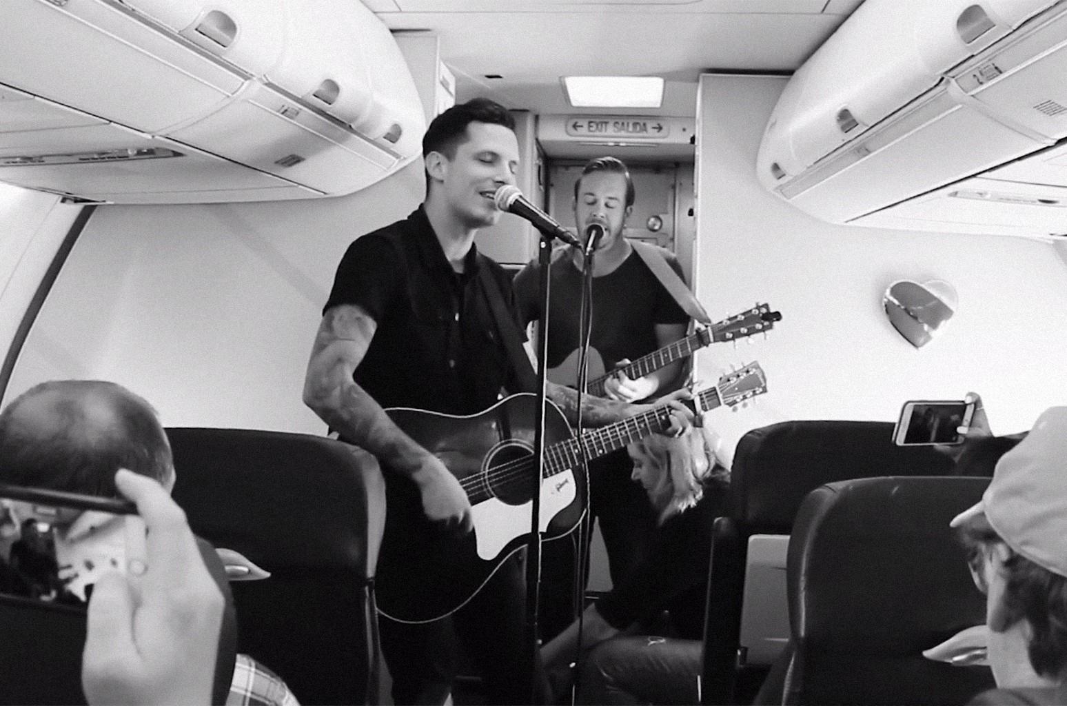 Devin Dawson performs on Southwest Airlines flight.