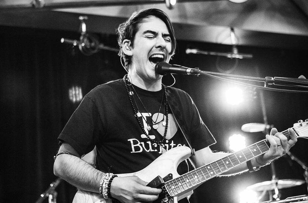 Dhani Harrison performs at Amoeba Music on Jan. 12, 2016 in Hollywood, Calif.