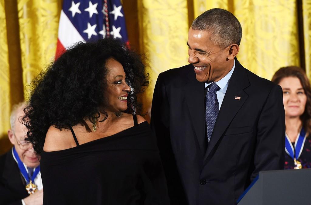 Diana Ross & President Barack Obama
