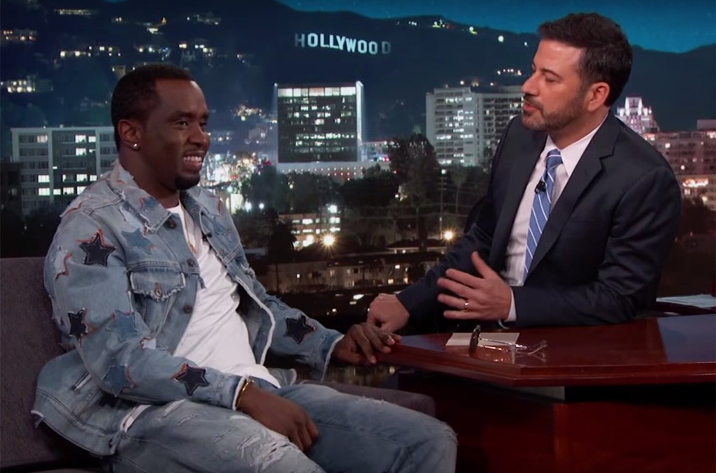 Sean 'Diddy' Combs during an interview on Jimmy Kimmel Live.