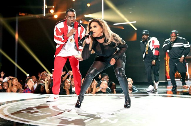 Diddy and Lil' Kim at the 2015 BET Awards