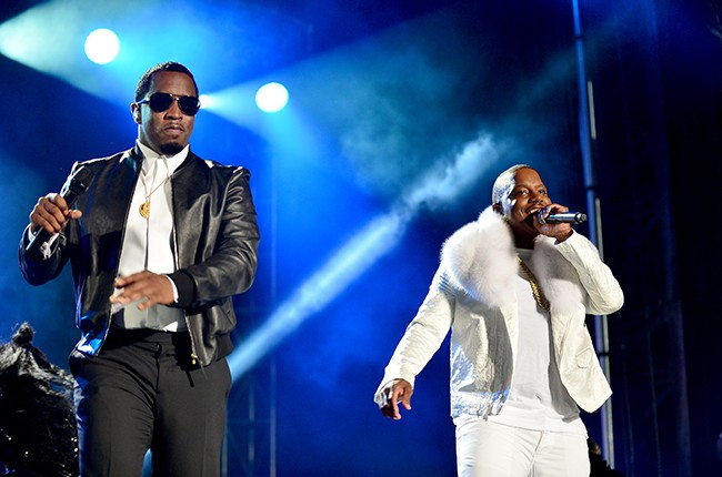 """Sean """"P Diddy"""" Combs and Mase"""