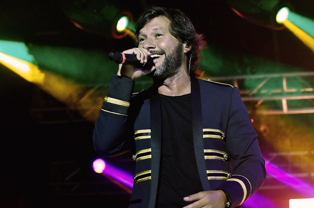 Diego Torres performs at the Miami Fashion Week Bash at Ice Palace Film Studios on June 3, 2017 in Miami.