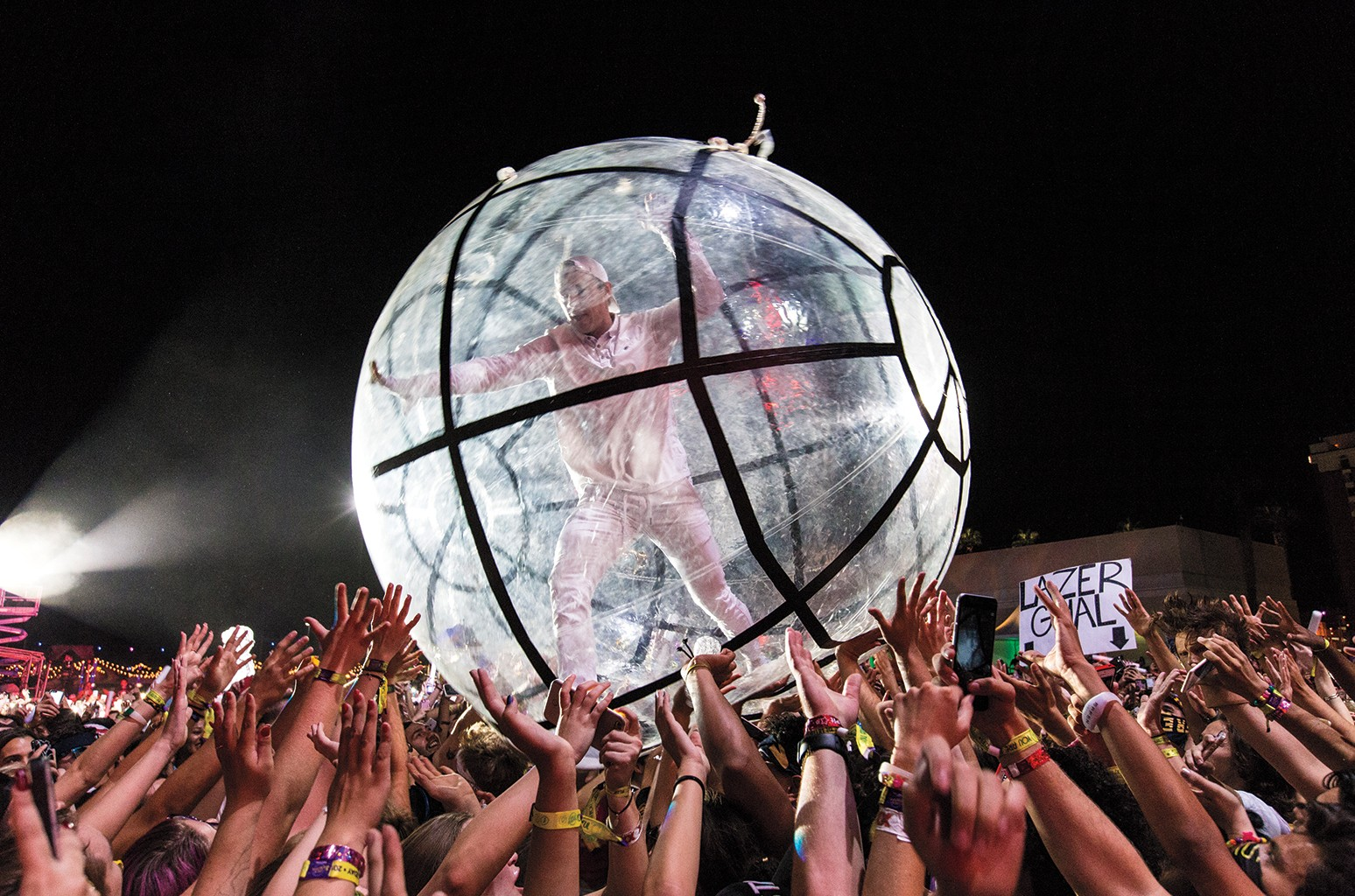 Diplo of Major Lazer crowd surfs/performs during the 2016 Life is Beautiful festival on Sept. 25, 2016 in Las Vegas.