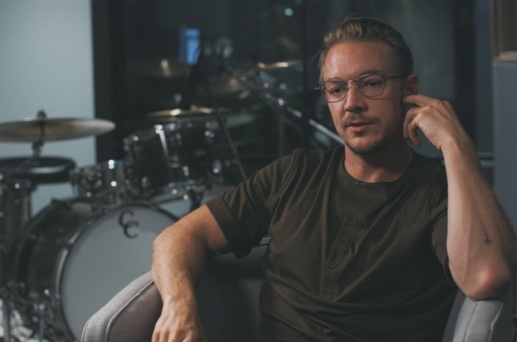 "Diplo in an episode of ""Clarify."""
