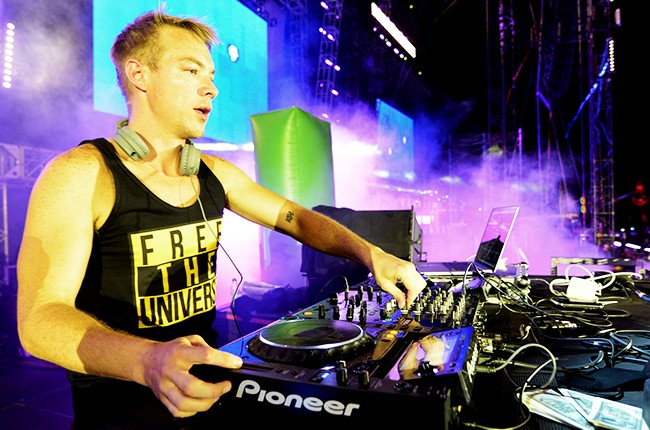 Diplo of Major Lazer performs during the 17th Annual Electric Daisy Carnival 2013