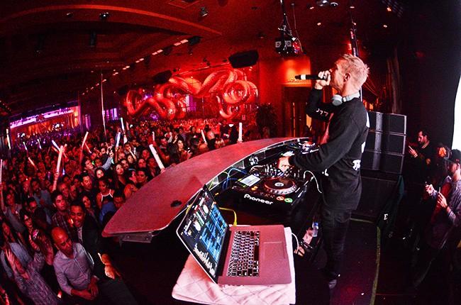 Diplo performs at Surrender Nightclub.