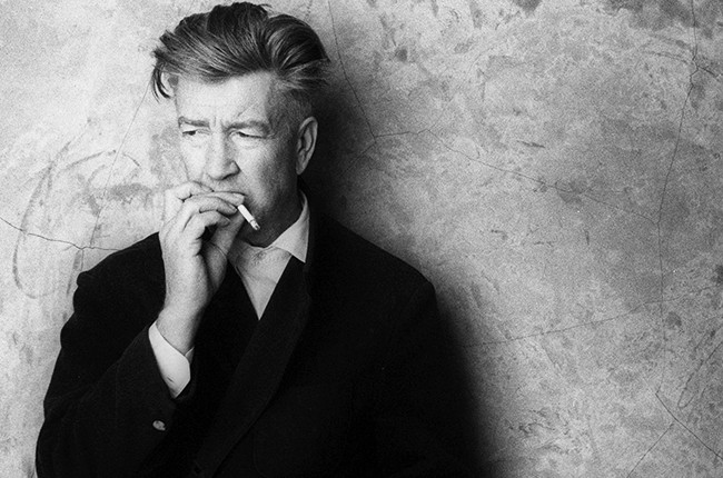 David Lynch at his studio on March 15, 2002 in Hollywood
