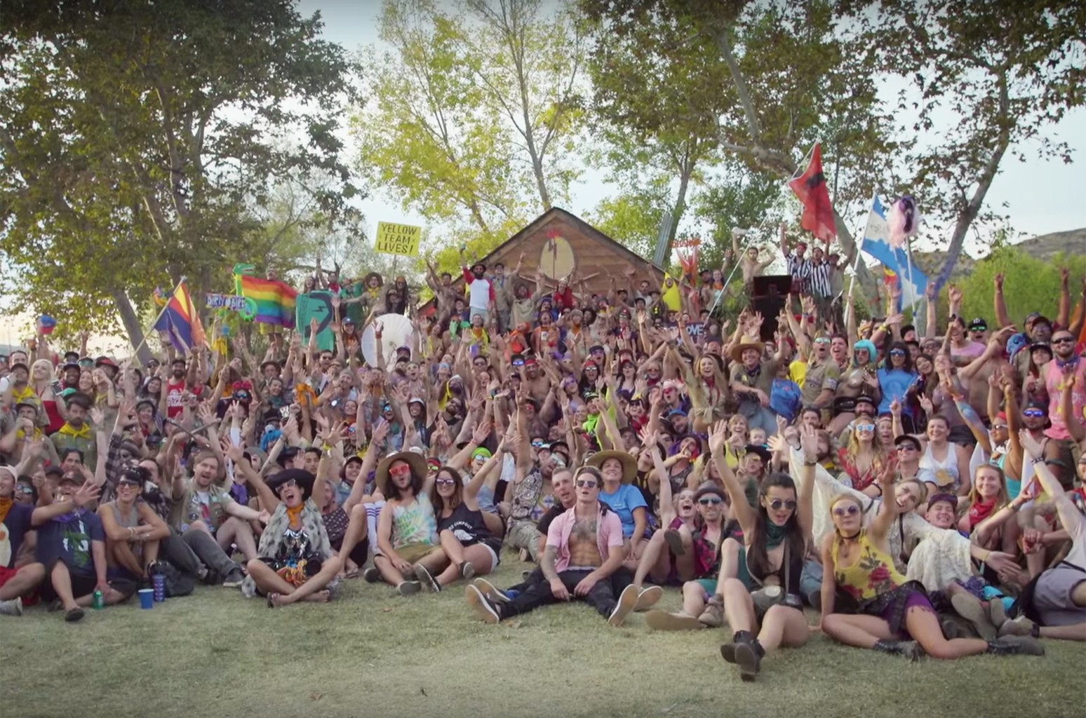 A scene from the Save the Date video for Dirtybird Campout 2017.