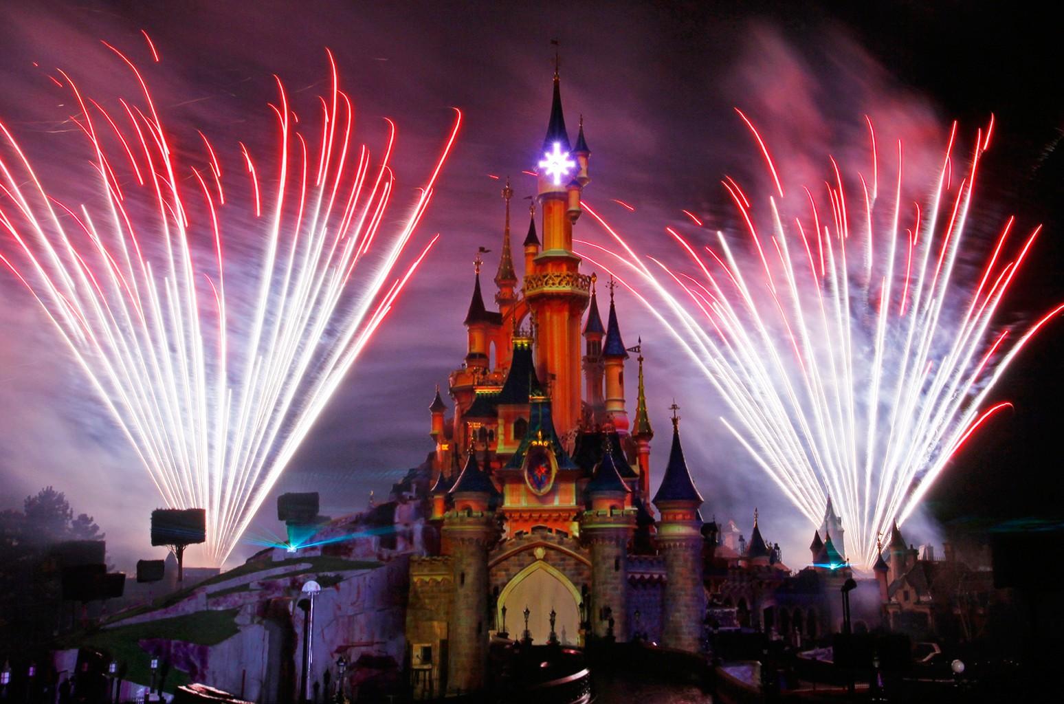 Disneyland's theme park in Marne-la-Vallee.