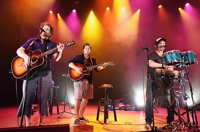 Dispatch perform during Lexus Pop-Up Concert Series Powered by Pandora on June 30, 2015 in Westbury, Long Island.