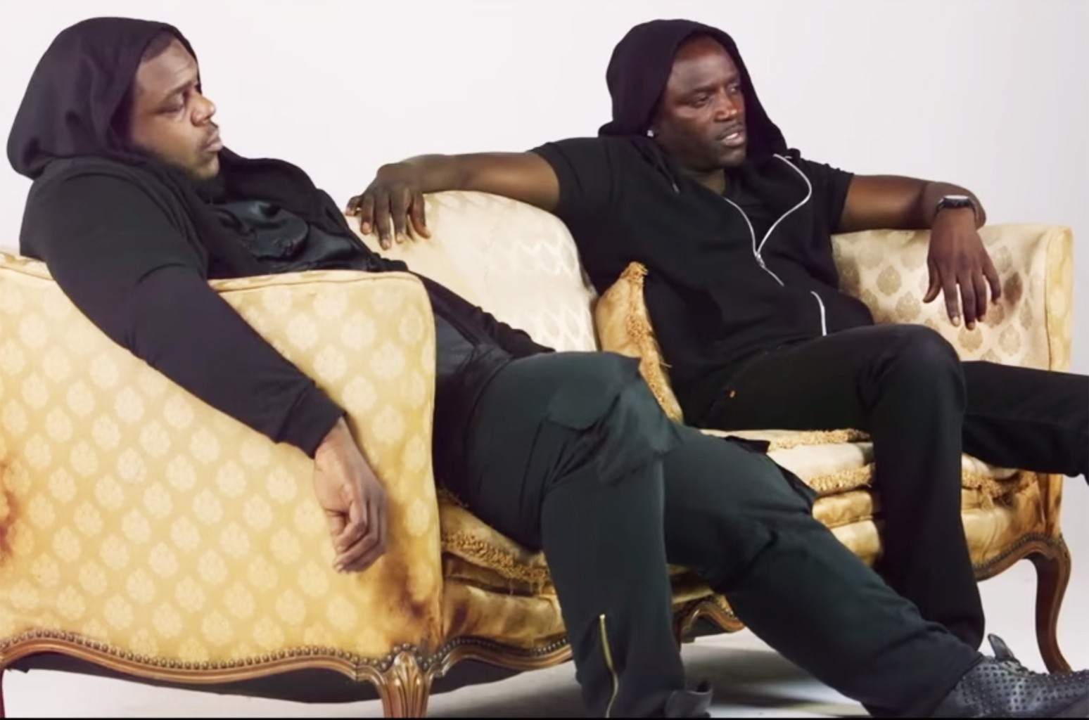DJ Hardwerk and Akon in the video for Tell Me We're Ok
