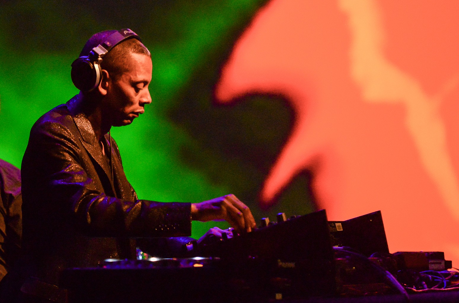 DJ Jeff Mills performs in 2014