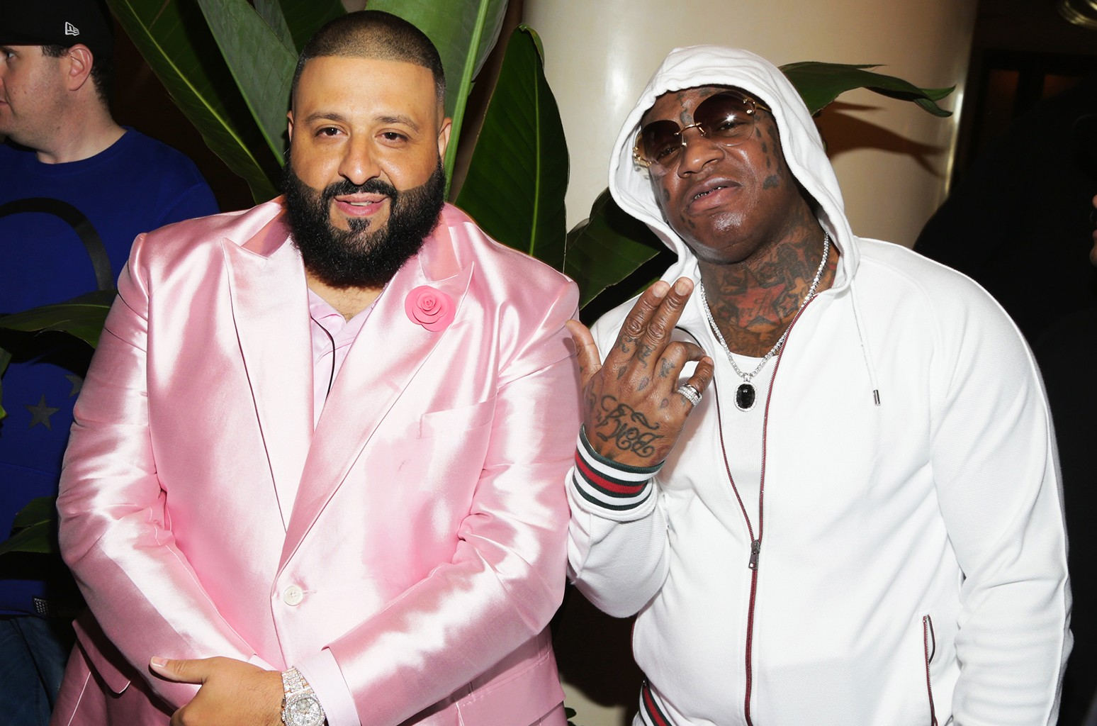 DJ Khaled and Birdman attend DJ Khaled Special Announcement Press Conference at Beverly Hills Hotel on Feb. 9, 2017 in Beverly Hills, Calif.
